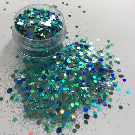 MERMAID BLUE GLITTER POT - 10g